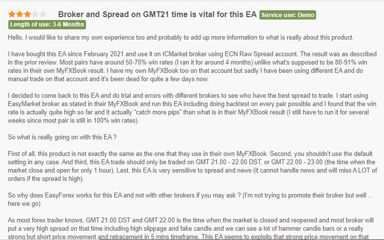 Customer feedback for Forex Scalping EA