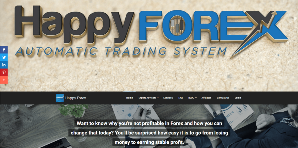 The main page of the Happy Forex team
