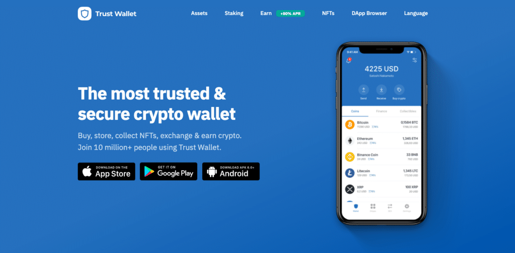 Ne[t on the screen: The most trusted and  secure crypto wallet
