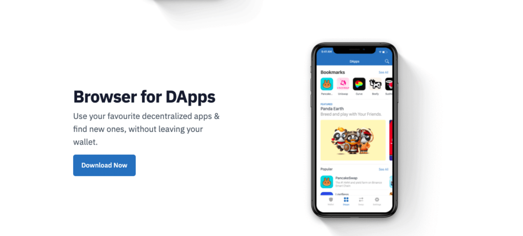 Text on the screen: Browser for DApps