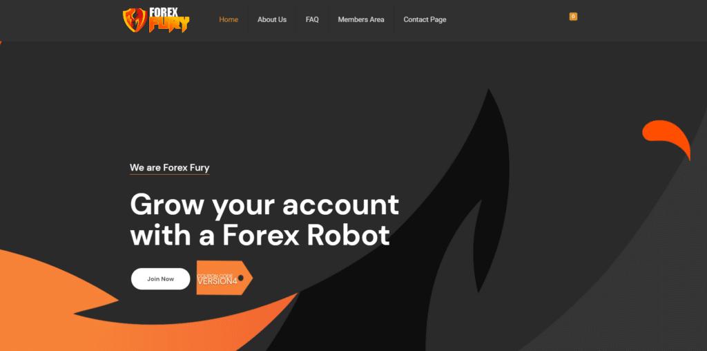 forex fury landing page image